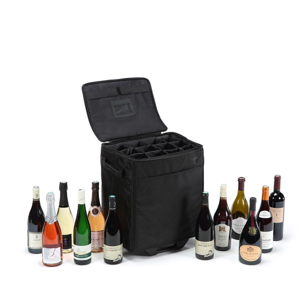 Lazenne Elite Plane Wine Luggage - Vinkoffert tilrettelagt for både 6 flasker og 12 flasker